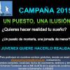 Se abre la campaña 'Un puesto, una ilusión' de JUVENEX