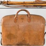 Subastan la silla y el bolso de caza de Alfonso XIII