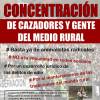 El 30 de julio, a las 13:00 horas, en la Puerta del Sol, concentración de cazadores