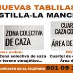 Nuevas tablillas de señalización de Cotos para Castilla-La Mancha